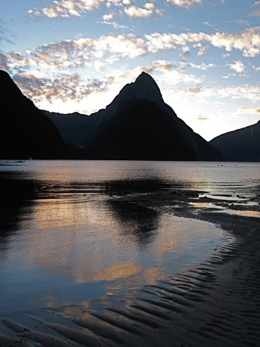Mitre Peak at sunset, Milford Sound